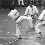 M° Giorgio Bortolin in action during his long career as fighter. He was opposite to the World Champion IATKF  Bruno De Michelis (Nishiyama Federation) 1978/1979 - Master Taiji Kase.
